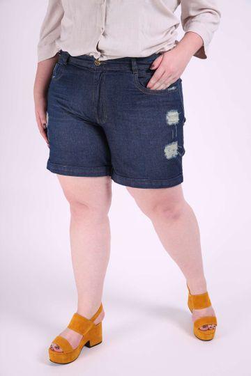 Short-jeans-destroyed-plus-size