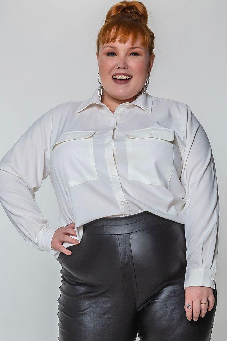 Camisa-bolsos-largos-plus-size