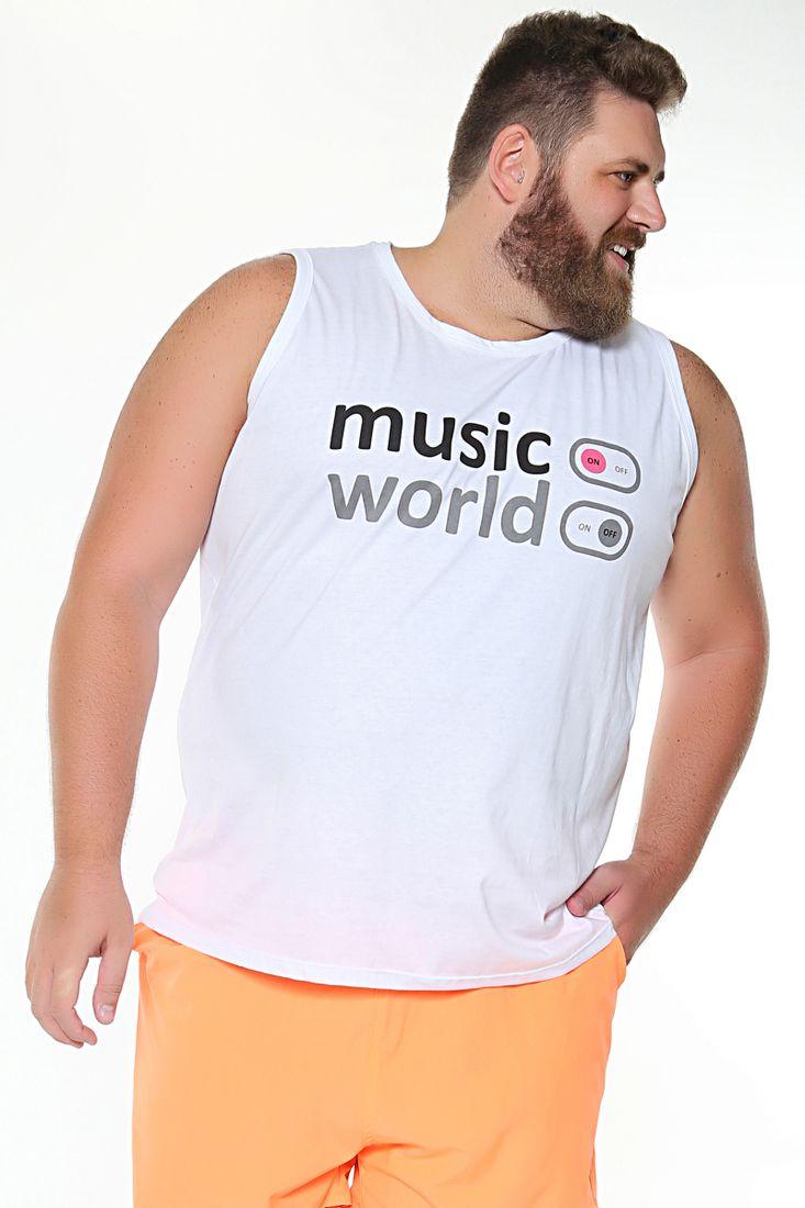 Regata-estampa-music-world-plus-size