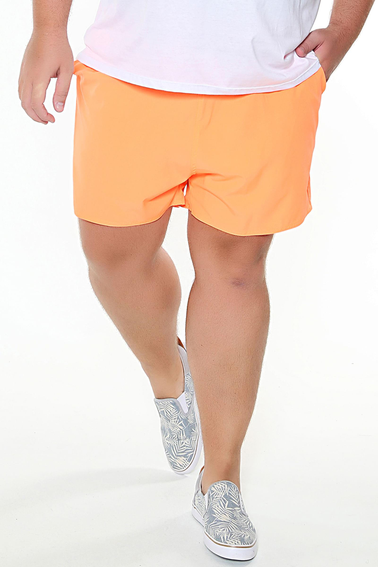 Short tactel plus size laranja