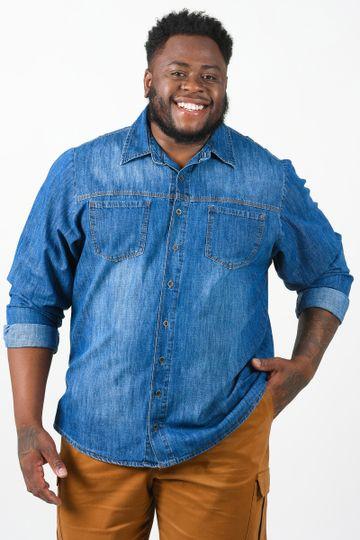 Camisa-jeans-manga-longa-com-bolsos-plus-size
