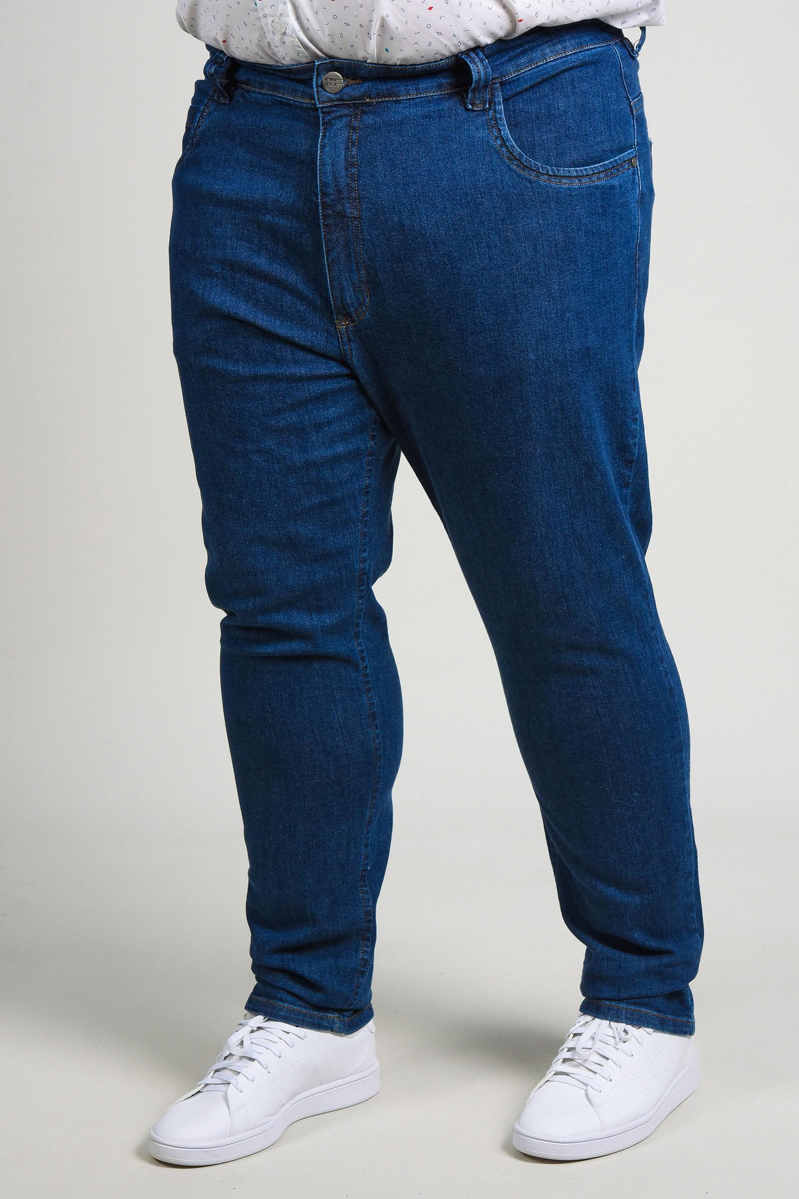 Calça skinny jeans blue plus size jeans blue